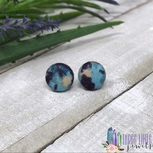 Upcycled Handmade Fabric Button Earrings